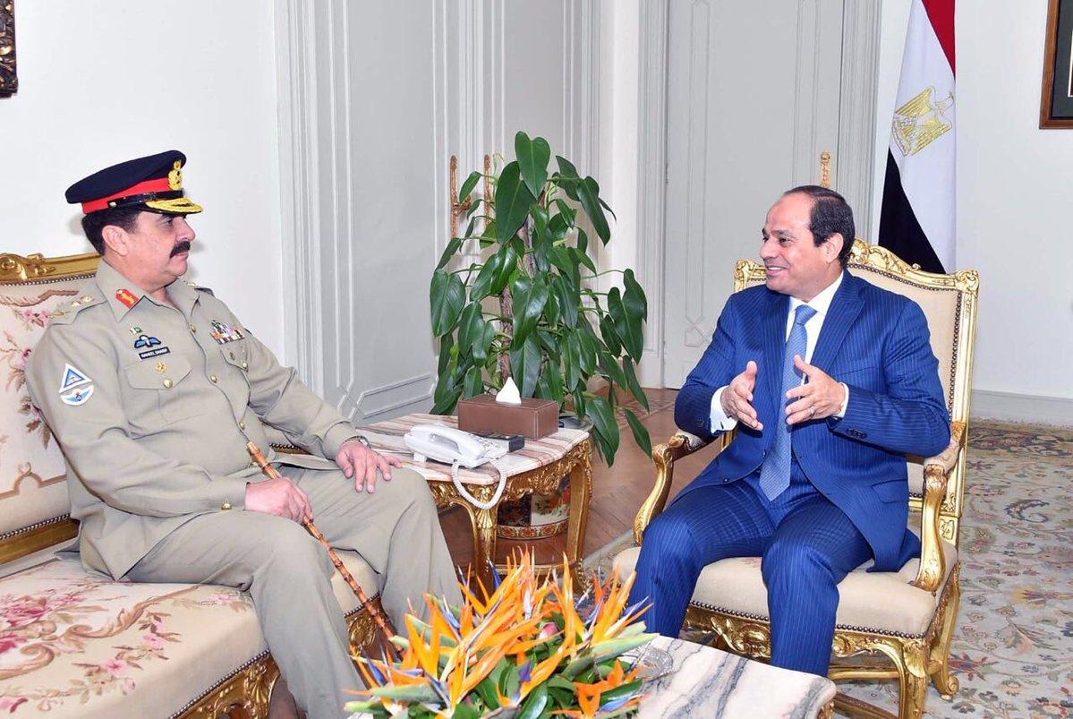 COAS Visit Egypt  president