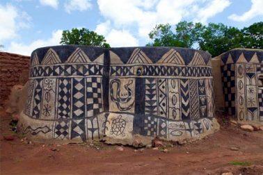 افریقہ کے گاؤں میں مٹی